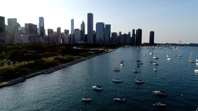 Sailboats over Lake Michigan