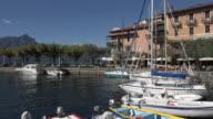 PAN/ Sailing boats in harbor of Torri del Benaco