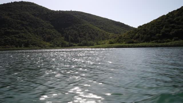 Sailing in Krka river, Krka National Park