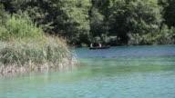 Sailing in the lake Kozjak, Plitvice Lakes National Park