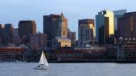 Zeilen op de Boston Harbor
