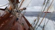 Sailing onboard classic yacht 'Adventuress', Antigua Classic Yacht Regatta, British West Indies