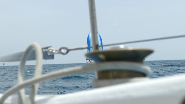 sailing race in the open sea