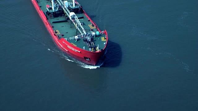 Sailing ship under the camera