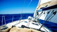 Sailing with sailboat