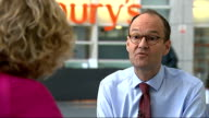 Sainsbury's embarks on price war with discount stores Chief Executive interview Mike Coupe interview SOT Mother shopped at Lidl to check it out On...