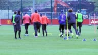 GVs of Manchester United training before their second leg of the round of 32 Europa League clash against French side SaintÉtienne Jose Mourinho's...