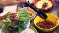 Salad bar in luxury restaurant , Bangkok , Thailand.