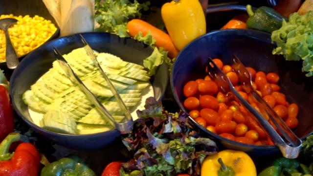 Salad buffet for breakfast