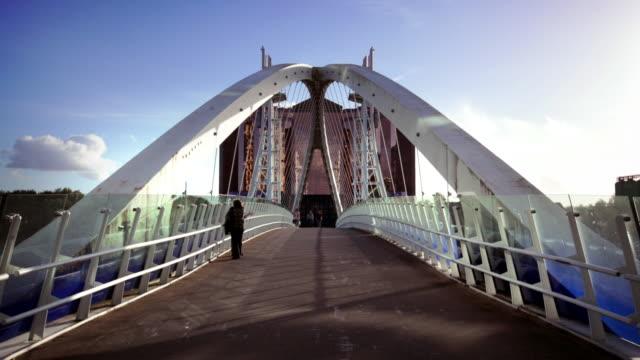 Salford Quays Lift Bridge, Manchester, UK