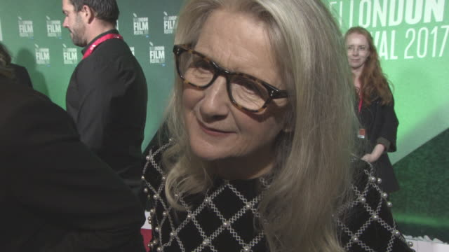 INTERVIEW Sally Potter on Brexit at 'The Party' UK Premiere 61st BFI London Film Festival at Embankment Gardens Cinema on October 10 2017 in London...