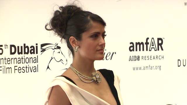 Salma Hayek at the 2008 Dubai International Film Festival amfAR arrivals at Dubai