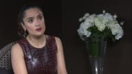 INTERVIEW Salma Hayek on her character and on the director Matteo Garrone at 'Tale of Tales' Interviews at Palais des Festivals on May 15 2015 in...