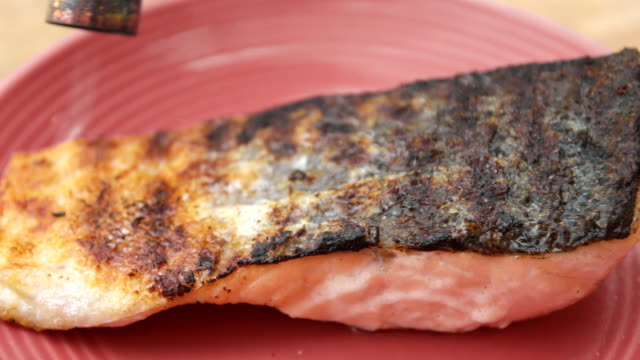 Salmon grilled Japanese.