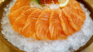 Salmon sashimi - japanese food style