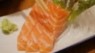 salmon sashimi , japanese food