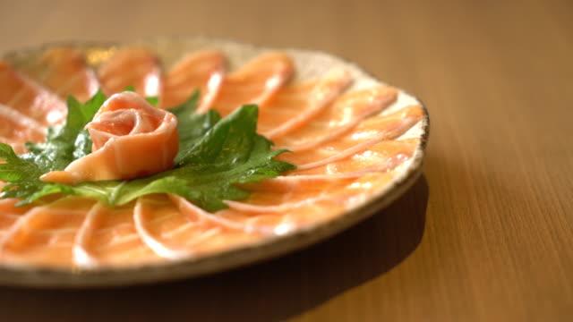 salmon sliced sashimi
