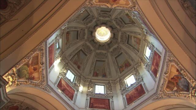 WS LA Salzburg Cathedral interior, detail of dome / Salzburg, Austria