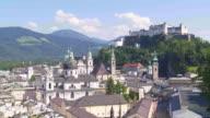 T/L PAN Salzburg Skyline with Hohensalzburg Castle