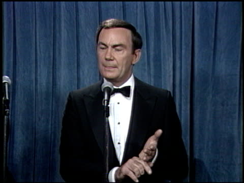 Sam Donaldson at the 1988 Emmy Awards Inside at the Pasadena Civic Auditorium in Pasadena California on August 27 1988