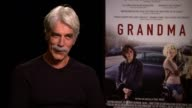 INTERVIEW Sam Elliott on working with Lily Tomlin and if they'd met before on why the story resonated with him on if they had a chance to bond onset...