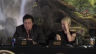 Sam Raimi Zac Braff Michelle Williams James Franco Mila Kunis on the orginal 1939 movie at 'Oz The Great and Powerful' Press Conference at Claridges...