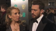 INTERVIEW Sam TaylorJohnson Aaron TaylorJohnson being at the awards being an actor his next project at EE British Academy Film Awards at Royal Albert...