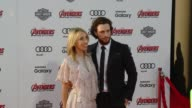 Sam TaylorJohnson and Aaron TaylorJohnson at The World Premiere of Marvel's 'Avengers Age of Ultron' at Dolby Theatre on April 13 2015 in Hollywood...