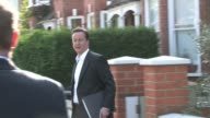 Samantha and David Cameron leave their home for another day of campaigning at the Celebrity Sightings in London at London England