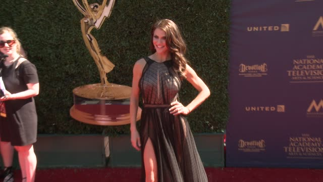 Samantha Harris at the 44th Annual Daytime Emmy Awards at Pasadena Civic Auditorium on April 30 2017 in Pasadena California