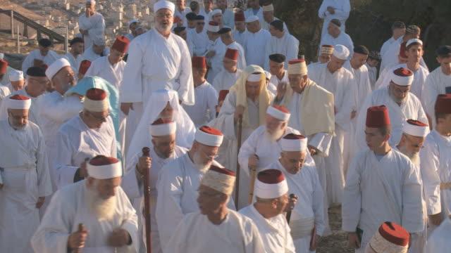 Samaritan pilgrimage ceremony at Mount Gerizim near West Bank city of Nablus,Samaria