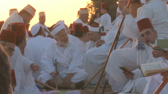 Samaritans celebrate Sukkot,at Mount Gerizim near West Bank city of Nablus,Samaria