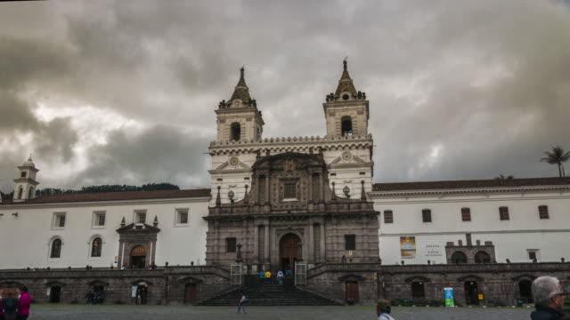 san francisco church in quito ecuador hyperlapse