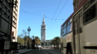 San Francisco Fährgebäude Uhrturm TL Stop Bewegungsunschärfe