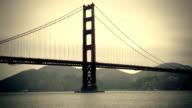 San Francisco Golden Gate Bridge panning