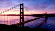 San Francisco Golden Gate sunrise - Timelapse