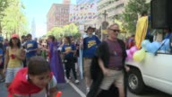 San Francisco's 44th annual LGBT Pride Parade drew up to a million participants The theme this year 'Color Our World With Pride'