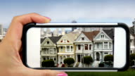 San Francisco's Painted Ladies through a Mobile Phone