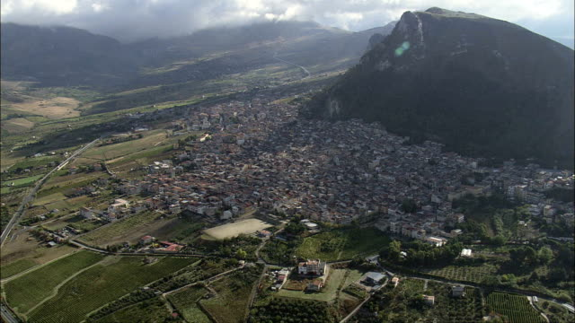 San Giuseppe Jato - Aerial View - Sicily, Province of Palermo, Monreale, Italy