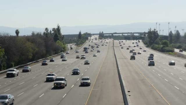San Jose Highway traffic timelapse 4k