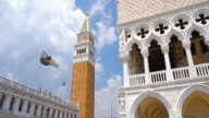 San Marco Campanile bell tower at Piazza San Marco and Palazzo Ducale in Venice, Italy