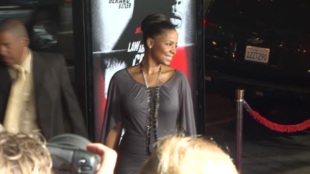 Sanaa Lathan at the 'Law Abiding Citizen' Screening at Hollywood CA