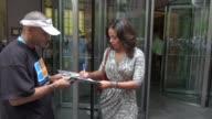 Sanaa Lathan at the SiriusXM Radio studio in New York NY on 08/14/12