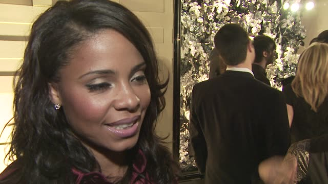 Sanaa Lathan on attending tonight's event on the appeal of Burberry and on her favorite Burberry piece at the Burberry Beverly Hills store reopening...