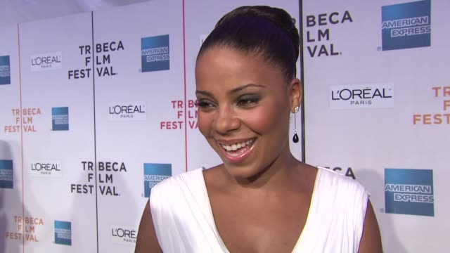 Sanaa Lathan on her career and on her role in the film at the 8th Annual Tribeca Film Festival 'Wonderful World' Premiere at New York NY