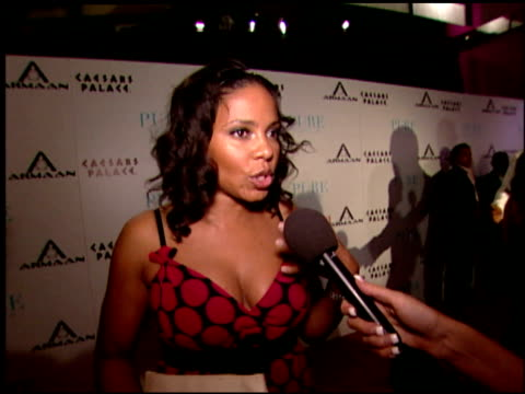 Sanaa Lathan on her love for Armaan watches at the Armaan Watches VIP Launch Party at Pure in Las Vegas Nevada on June 2 2007