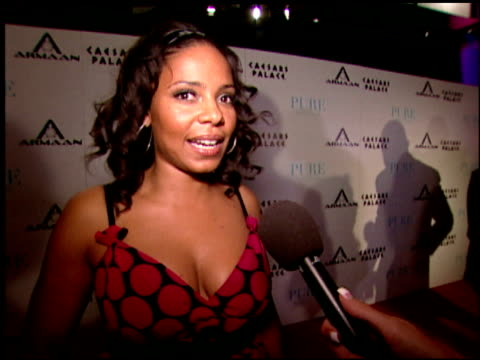 Sanaa Lathan on the excitement of being back in Las Vegas at the Armaan Watches VIP Launch Party at Pure in Las Vegas Nevada on June 2 2007