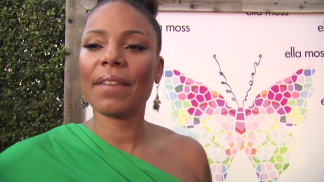 Sanaa Lathan on who she's wearing and why she selected the piece what she loves about Ella Moss how she's beating the heat this summer how she's been...