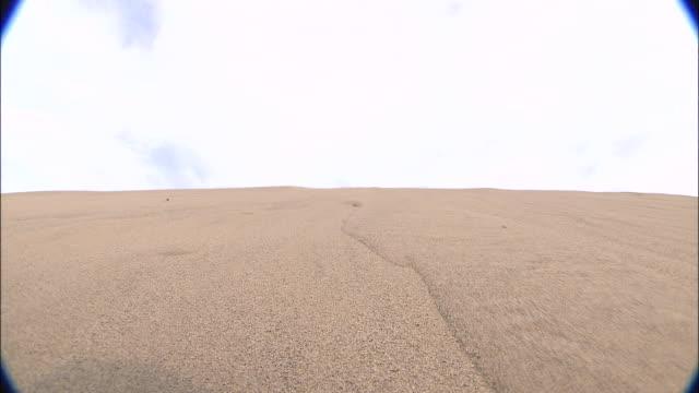 Sand runs down dunes, Japan