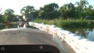 WGN Sandbags Lining Flooding Street in Algonquin Illinois on July 16 2017